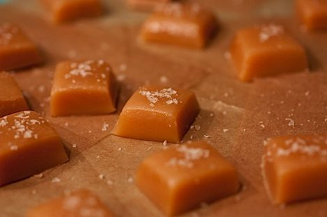 Pink Salted Chewy Caramel Candy Recipe (everything in the pot at once caramel recipe...looks easy enough?!)