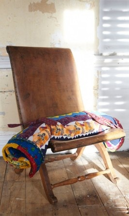 Quilted Mat and leather chair, Plümo