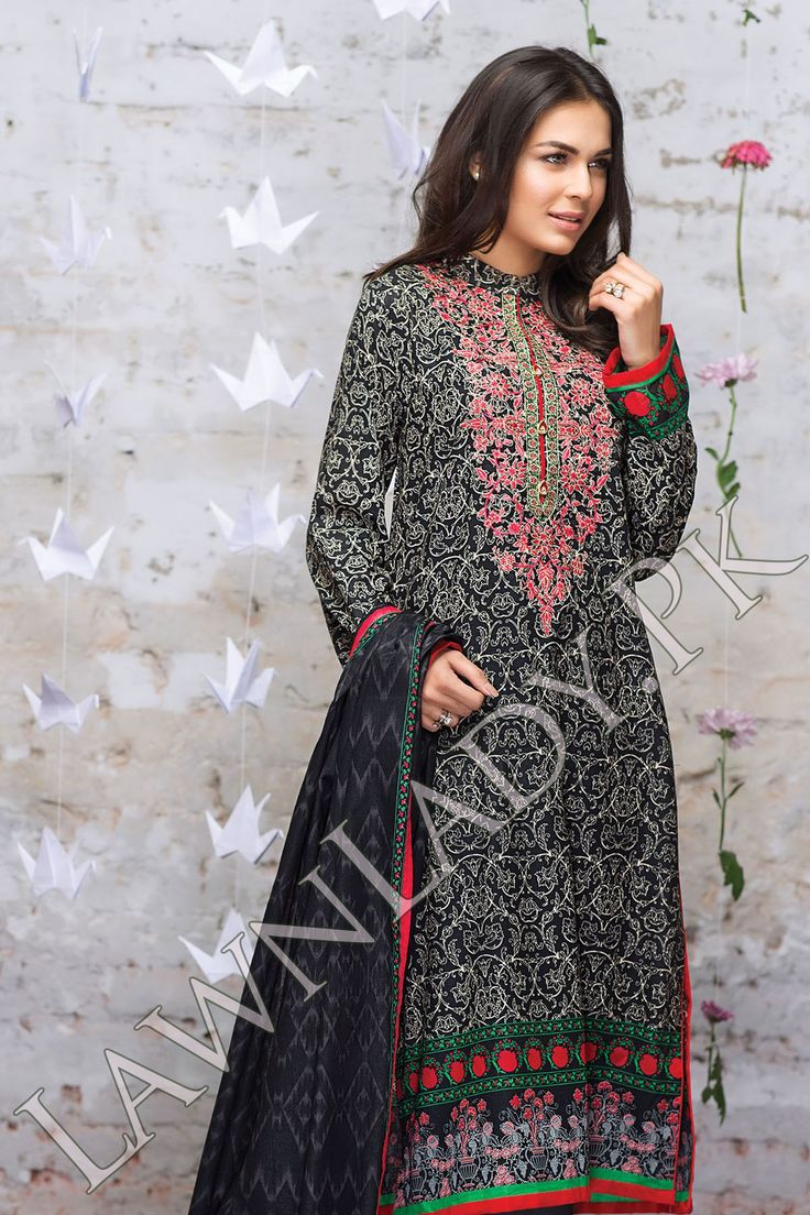 Warda spring summer collection 2016 vol 1 with prices beststylo com - Buy Alkaram Lawn 2016 Replica 4pcs Suit Embroidered Front Printed Back Dyed