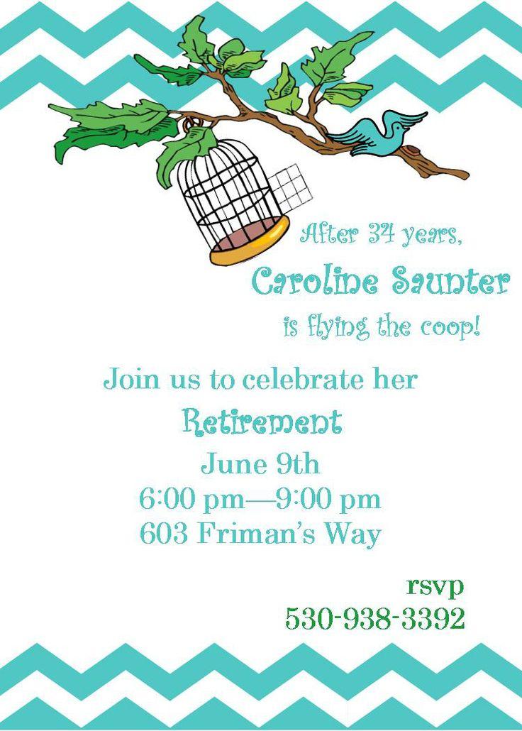 107 best retirement invitations images on Pinterest Retirement - retirement party flyer template