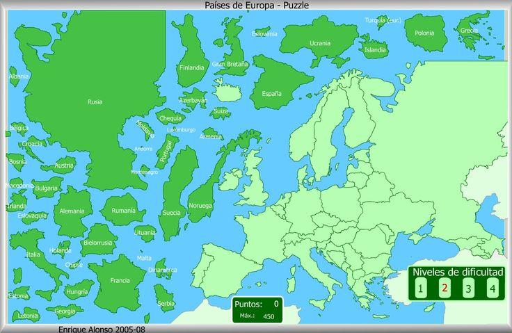 Mapa Interactivo De Europa Países De Europa. Puzzle