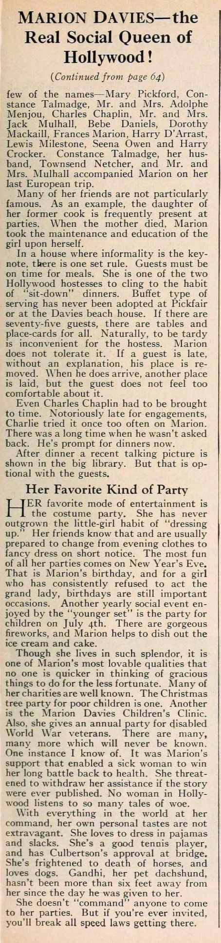 Marion Davies/ Beach House article page 3