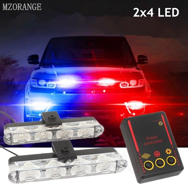 Car Truck 4W Strobe Emergency Warning Flash Eagle Eye Light Headlight White