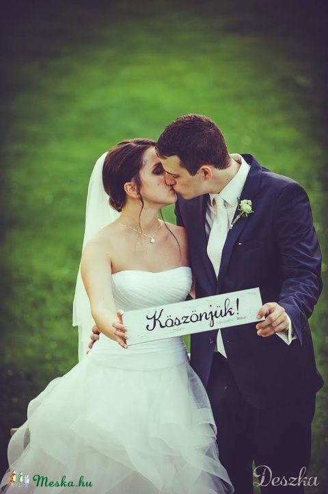 Köszönetdeszka fotózáshoz, Dekoráció, Otthon, lakberendezés, Esküvő, Esküvői dekoráció, Meska