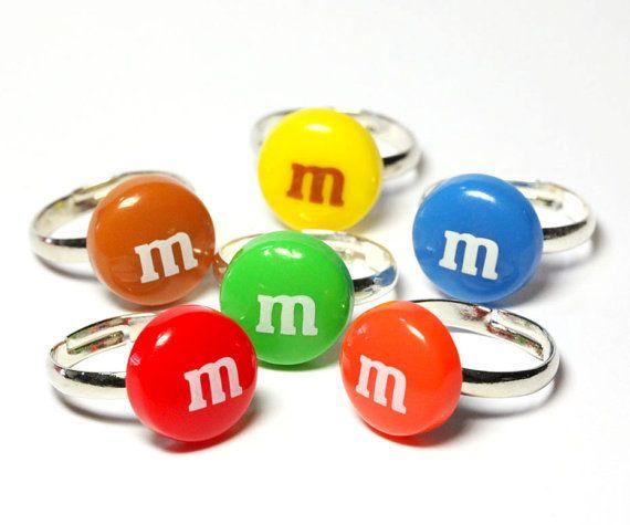 M Candy Ring cute kawaii fake miniature food by BitOfSugar, $7.00