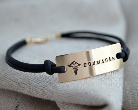 Simple or Bracelet d'alerte médicale  Custom  par ThoughtBlossoms