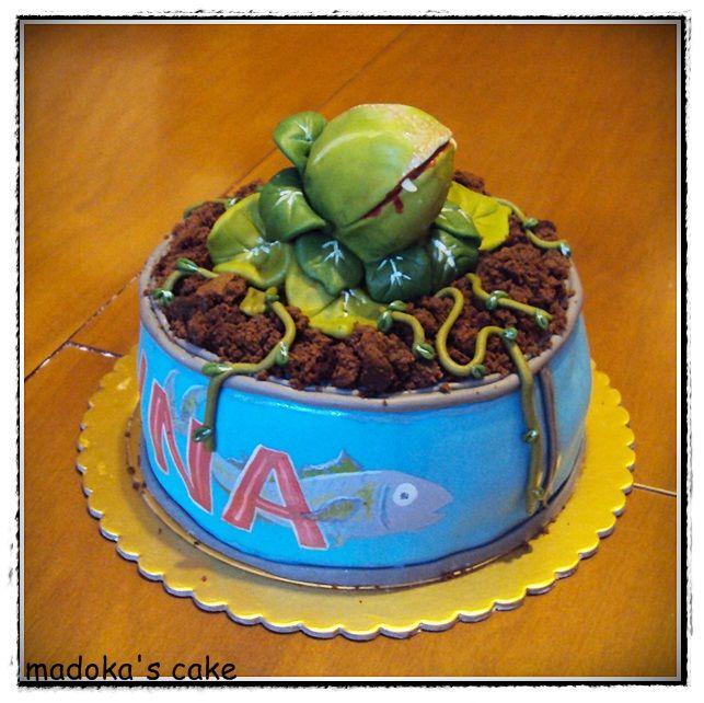 Audrey J. cake, omaggio al musical little shop of horrors -la piccola bottega degli orrori