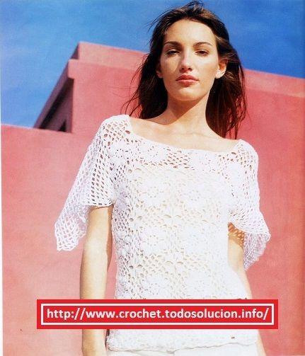 Crochet polera manga pañuelo es un diseño muy novedoso y hermoso, juvenil y elegante, dejamos aquí el esquema y paso a paso.