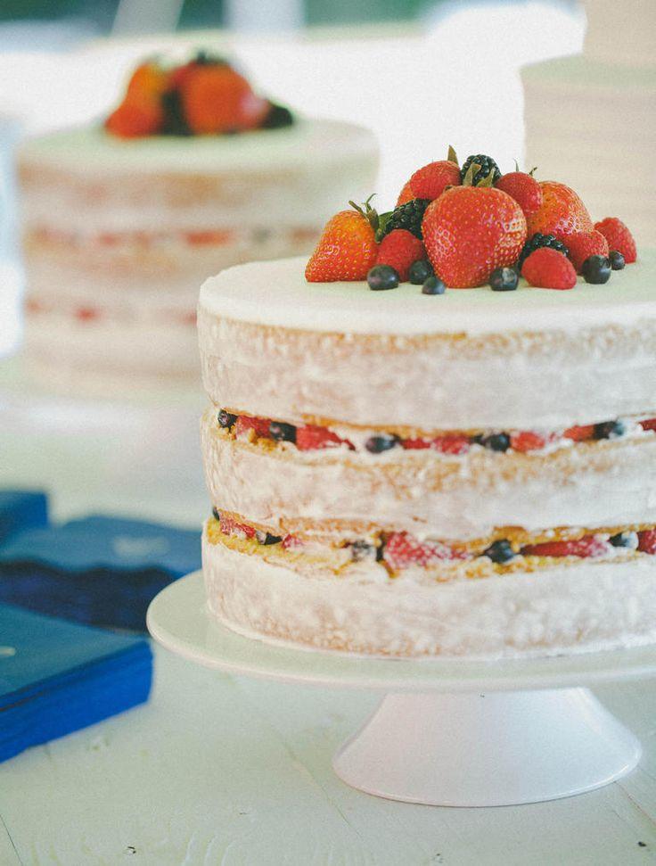 Best 25 Naked wedding cake with fruit ideas on Pinterest Fruit