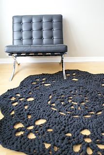 Super Chunky Doily Rug by Erin Black... This is totally going on the to do list.