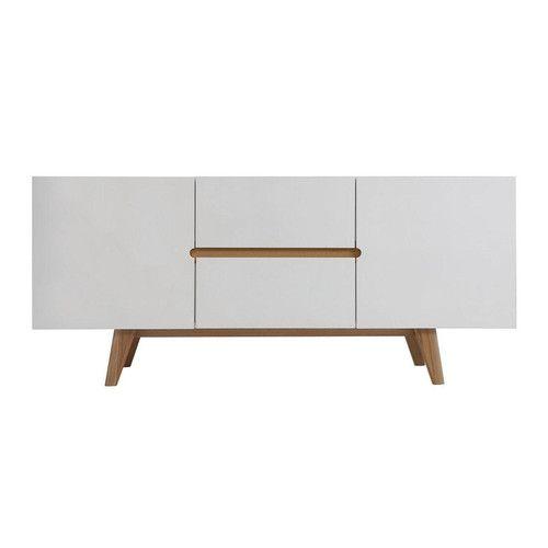 Milan Direct Finn Scandinavian Sideboard With 2 Drawers Doors 389 160cm 70cm H