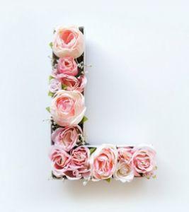 [DIY] Lettres fleuries