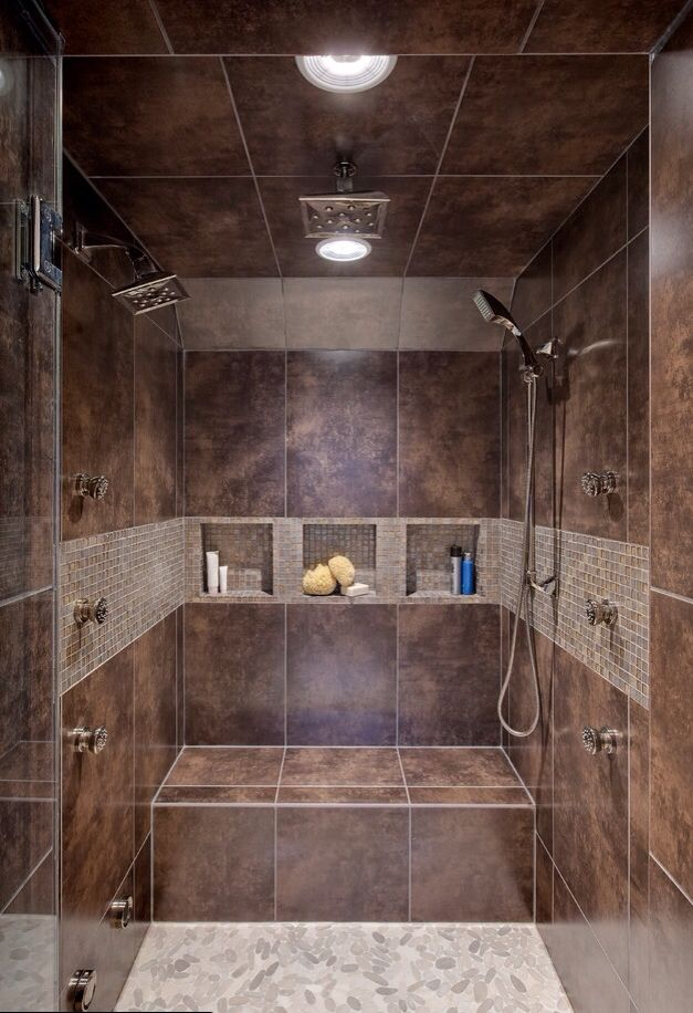 mount the hand-held shower head on the other side.