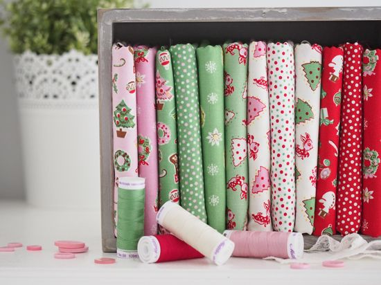 christmas in april? - Pretty by Hand - Little Joys fabric collection designed by Elea Lutz for Penny Rose Fabrics - coming to stores in June 2015!