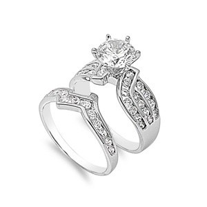 De 193 bsta Cubic Zirconia Wedding Ring Setsbilderna p Pinterest