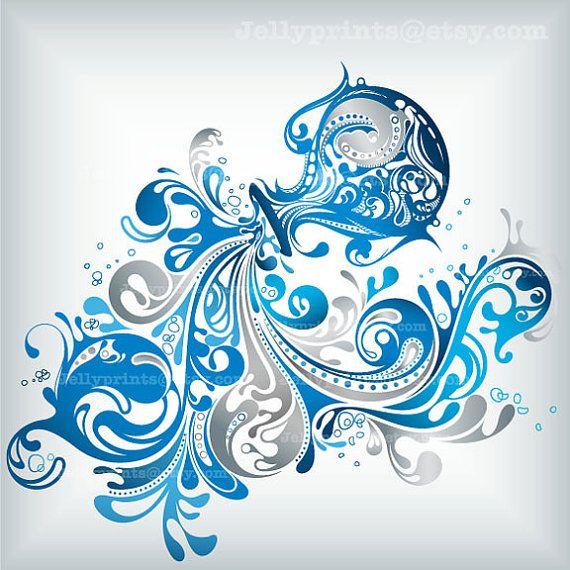 5 X 5 Aquarius Art Print --- JP 0079