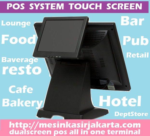 Mesin kasir POS Touch Screen All In One Dual Display Cocok untuk restoran cafe hotel dan ritel... harga spesial reseller dan promo call 021-27100234, 031-5952929, 0411-2116999