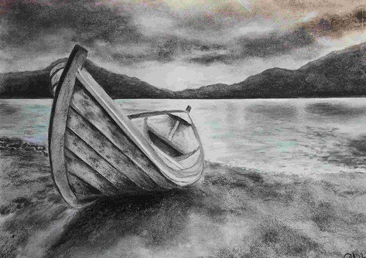 двери лодка картинка карандашом сделан