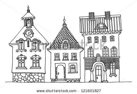 Cartoon hand drawing houses by astudio, via ShutterStock