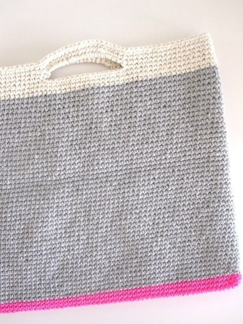 ao with <3 / crochet bag, get your neon on!