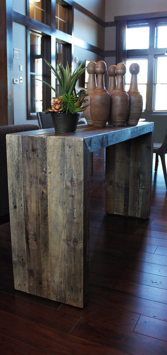 Reclaimed Wood Table Console By AtlasWoodCo On Etsy 36500