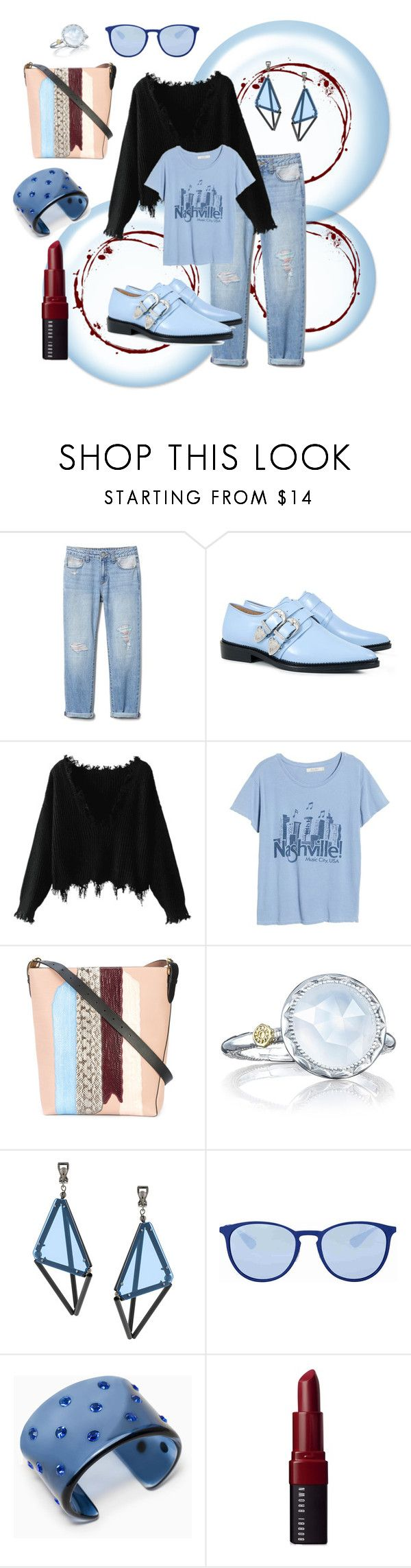 """""""fun!"""" by debep ❤ liked on Polyvore featuring Carven, Junk Food Clothing, Diane Von Furstenberg, Tacori, Issey Miyake, Ray-Ban, Max&Co. and Bobbi Brown Cosmetics"""
