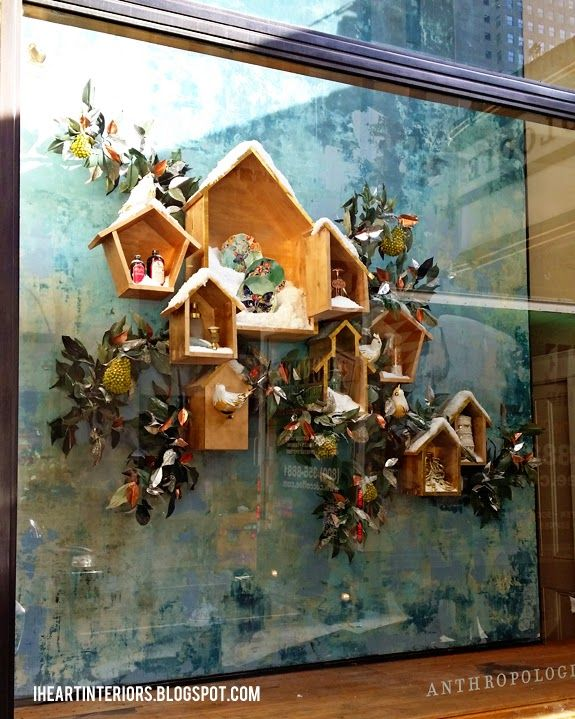 i heart interiors: Anthropologie Window Display :: The Birds