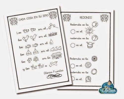 La Eduteca: RECURSOS INFANTIL | Poesías con pictogramas