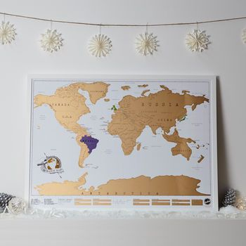 I want! Scratch Map ® Original World Map Poster