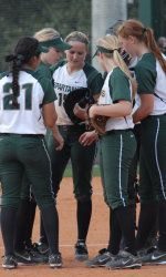 Michigan State softball earned two wins in its second day at the Florida Atlantic Classic and improved its record to 11-7 on the season.  MSU edged Harvard, 1-0, and defeated Florida Atlantic, 7-2, on Sunday afternoon.
