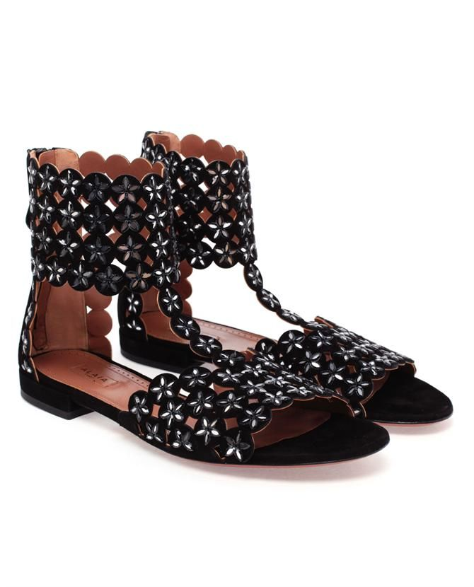 Azzedine Alaia Embellished Suede Shoes AZZEDINE ALAA Embellished