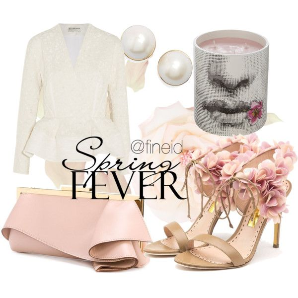 Spring Fever by fineid on Polyvore featuring moda, Balenciaga, Rupert Sanderson, Emanuel Ungaro, Chanel, Kate Spade and Fornasetti