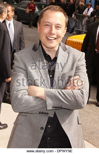 Apr 29, 2009 - New York, New York, USA - Tesla Motors CEO, ELON MUSK at his appearance on 'The Late Show With David Letterman' held at the Ed Sullivan Theater. (Credit Image: © Nancy Kaszerman/ZUMA Press) - Stock Image