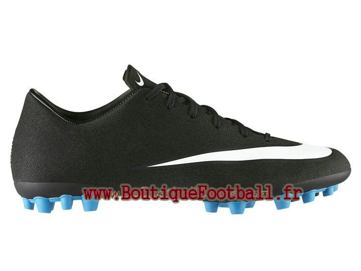 Nike Mercurial Veloce II AG-R CR7 Chaussure de football à crampons pour terrain synthétique pour Homme Noir/Blanc 684866-014