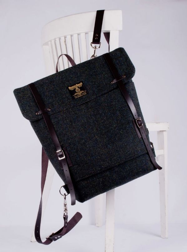 handmade harris tweed bag.
