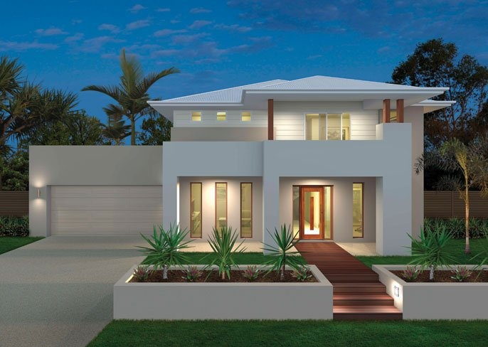 Ausbuild home designs arabella coastal facade visit www for New home designs brisbane