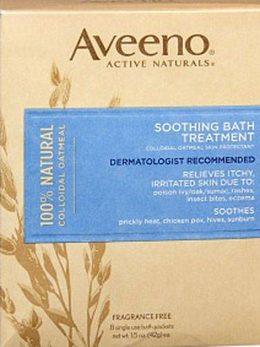 If you happened to get burned in multiple places, empty one of the Aveeno Soothing Bath Treatment pouches, $6.34 for eight packets, amazon.com, into the tub. The colloidal oatmeal it contains instantly calms inflammation and itchiness. Courtesy Image -Cosmopolitan.com