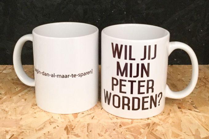 Coffeemug *Wil jij mijn peter worden?*