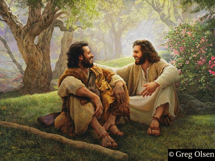 One of my favorite paintings. I picture sitting one day like this with Christ and just talking to him.....'The Way of Joy' by Greg Olsen