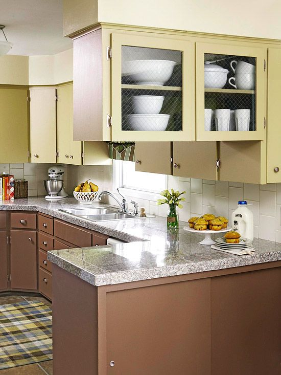 Cocoa Brown + Sage GreenKitchens Colors, Cabinets Colors, Kitchens Remodeling, Nature'S Inspiration Kitchens, Colors Schemes, Glasses Cabinets, Cocoa Brown, Sage Green, Cabinets Doors