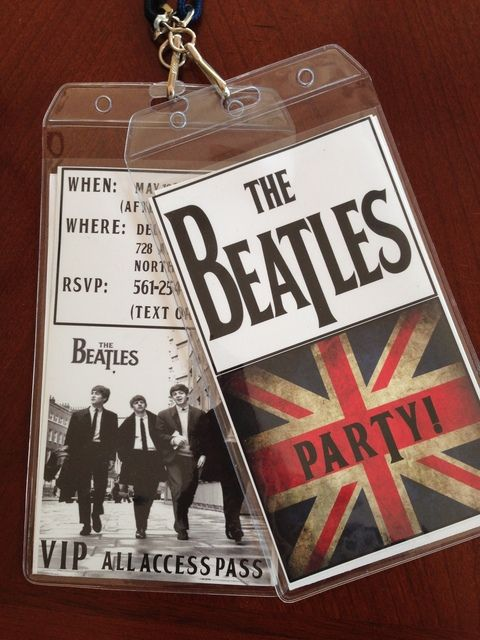 Beatles Party | CatchMyParty.com