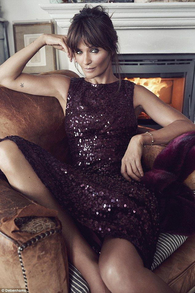 Helena Christensen looks sultry and sophisticated in a No 1 by Jenny Packham dress: £199...