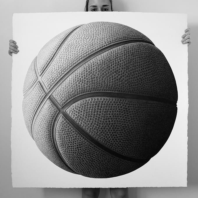 Line Drawing Basketball : Cj hendry pen on paper basketball cm