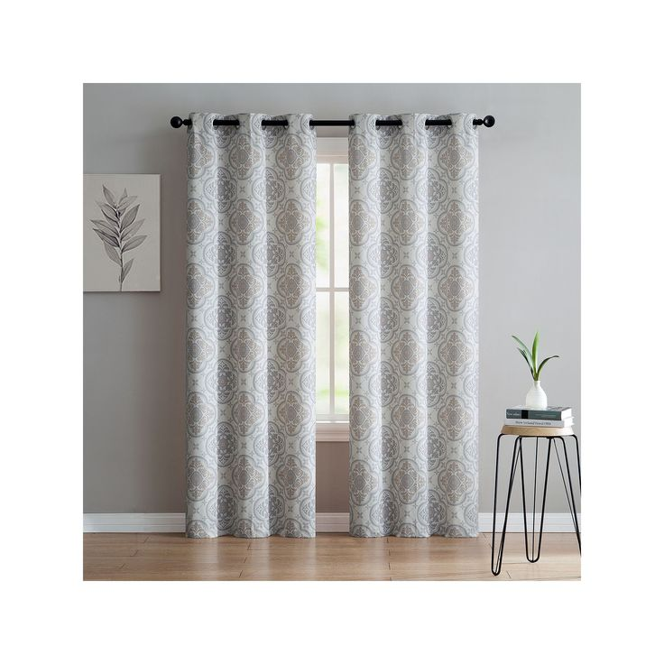 Vcny 2-pack Winstead Printed Curtain, Multicolor