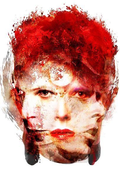 David Bowie Changes affordable art fair battersea power station London - Czar Catstick, BigFatArts.com
