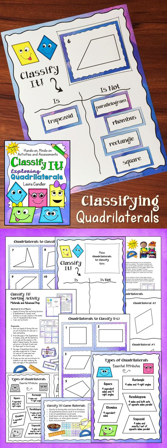 FREE Hands-On Activities for Classifying Quadrilaterals ...
