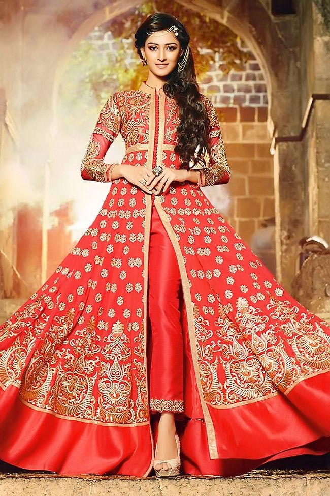 Buy long jacket with Anarkali