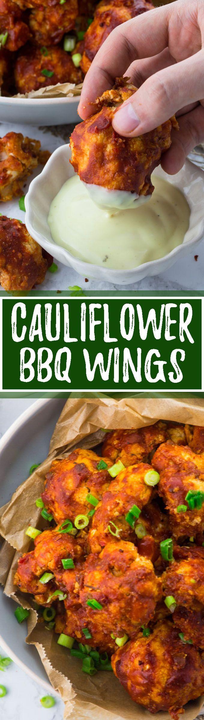Vegane Chicken Wings aus Blumenkohl. Das perfekte Essen für einen gemütlichen Fernsehabend. Das typisch amerikanische Soul Food in veganer Variante! Vegane Rezepte können so einfach sein!