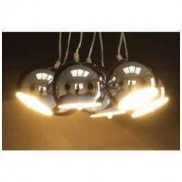 Hanglamp Retro Chroom Bundel 7 bollen Kare Design