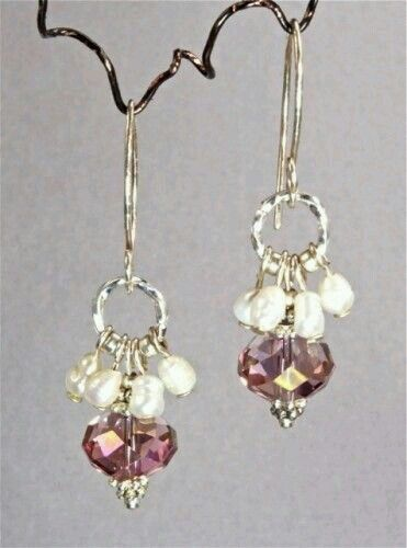 ♥ Amethyst Rondelles with Fresh Water Pearls - INSPIRATION ~ Love the color!